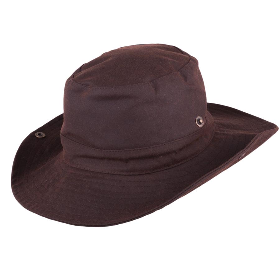 Pánský hnědý nepromokavý klobouk Assante 81042