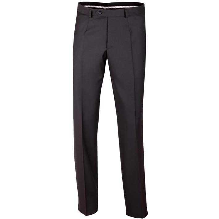 Nadměrné prodloužené pánské společenské kalhoty černé na výšku 182 – 188 cm Assante 60502