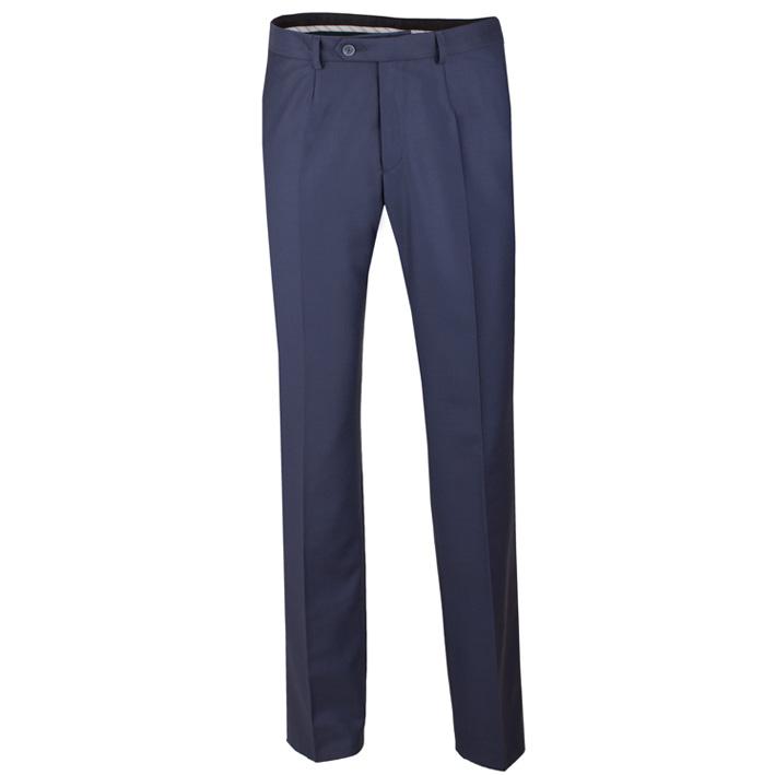 Nadměrné extra prodloužené pánské modré kalhoty společenské na výšku 188 – 194 cm Assante 60523