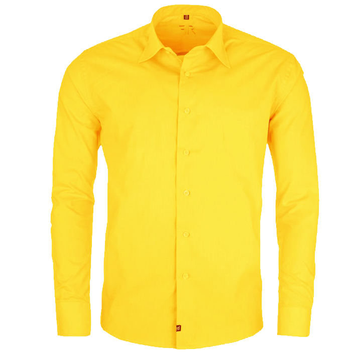 Pánská košile žlutá s kapsou Friends and Rebels 30205