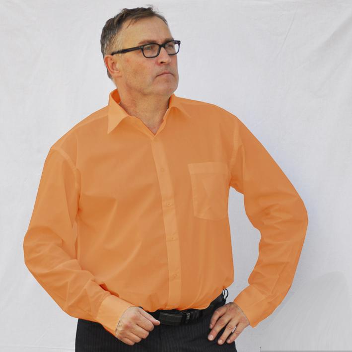 Oranžová pánská košile s dlouhým rukávem rovná Friends and Rebels 30256