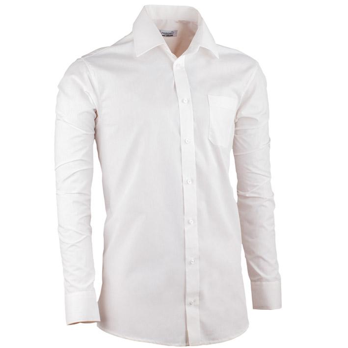 Smetanová pánská košile slim fit s dlouhým rukávem Aramgad 30280 velikost 37/38 (S)