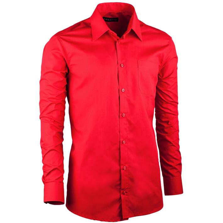 Červená pánská košile slim fit Assante 30302