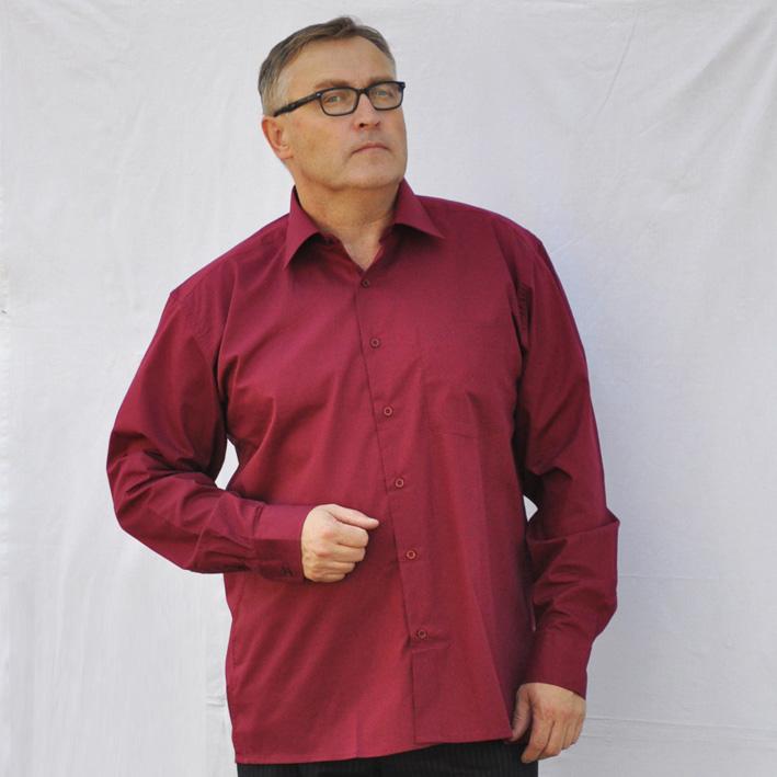 Červená pánská košile s dlouhým rukávem rovná Friends and Rebels 30306 velikost 37/38 (S)