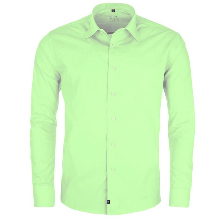 Zelená pánská košile s dlouhým rukávem rovná Friends and Rebels 30507 velikost 45/46 (XXL)