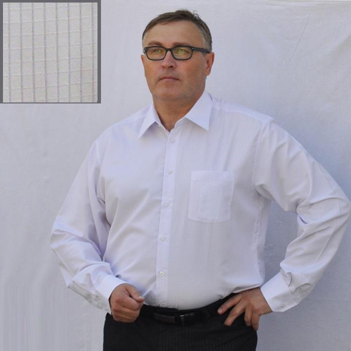Bílá pánská košile s dlouhým rukávem rovná Assante 30606