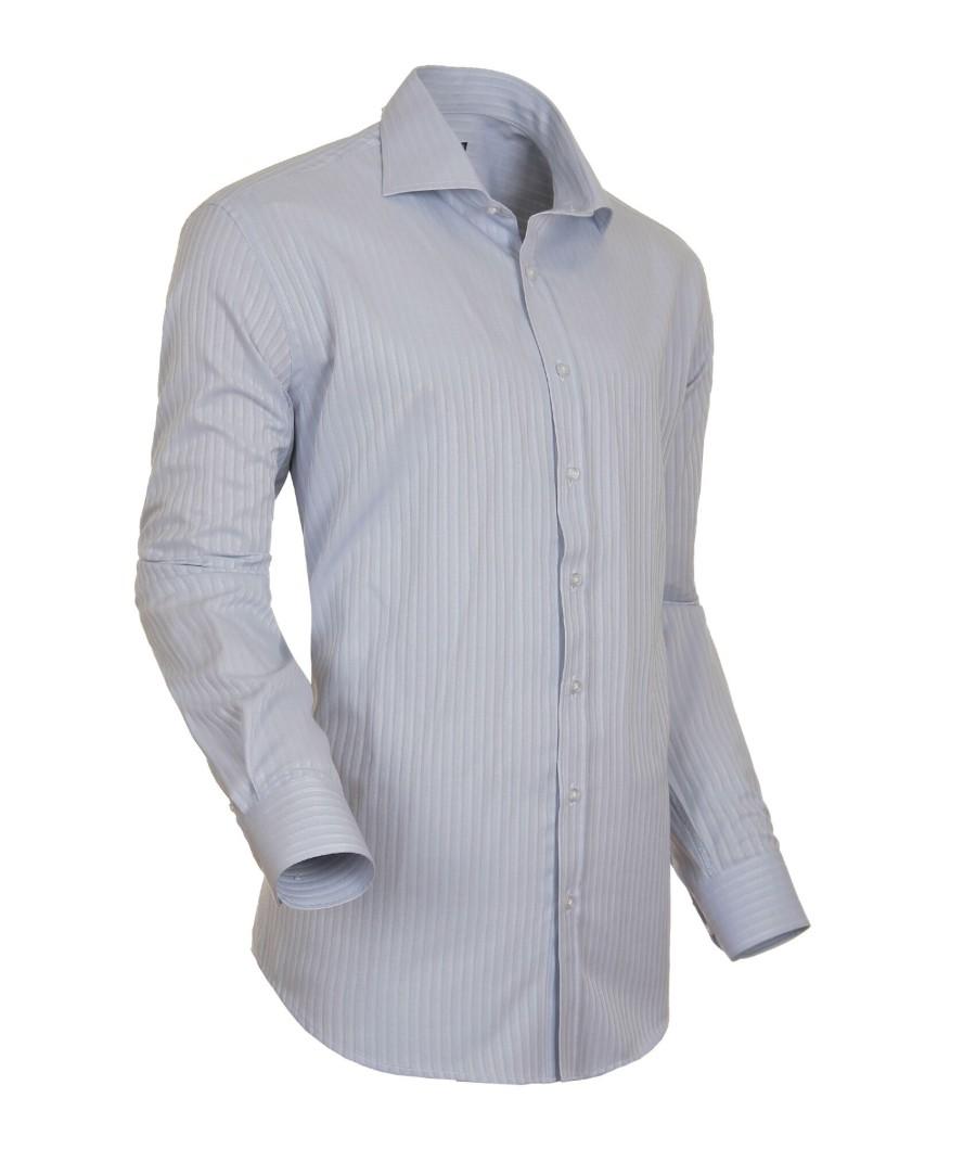 Šedá pánská košile s dlouhým rukávem rovná Native 30809