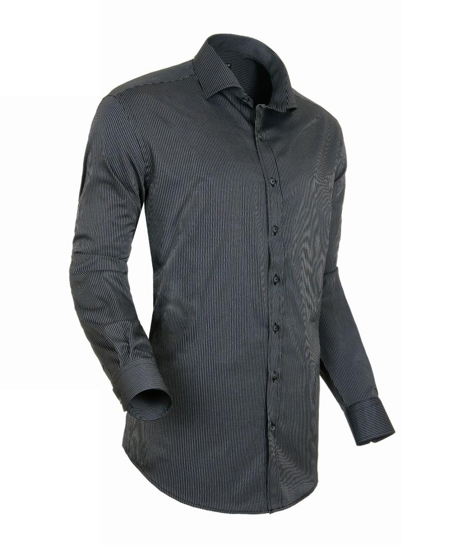 Černá pánská košile s dlouhým rukávem rovná Native 30810