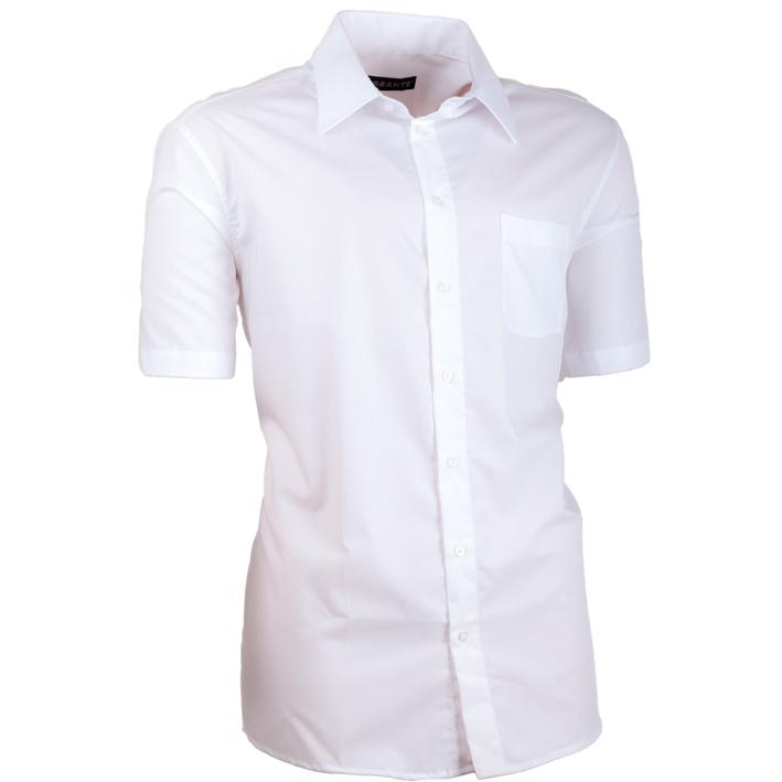Pánská košile Assante bílá vypasovaná 40004